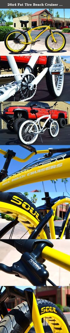 26x4 Fat Tire Beach Cruiser Bike - SOUL STOMPER - 3 speed - Yellow / Black NEW!!. RADICAL FAT TIRE SOUL BEACH BEACH CRUISER No other brands can come close to our design and premium components We're the best in the business for a reason. T H E S O U L S T O M P E R ONE OF KIND TWO TONE YELLOW AND BLACK FRAME - FORK - YELLOW HANDLEBARS & RIMS. BLACK 4130 CHROMOLY BMX CRANKS - REAR HYDRAULIC DISC BRAKES THE SOUL STOMPER IS A PERFORMANCE FAT TIRE BEACH CRUISER. HI END COMPONENTS AND STYLING…