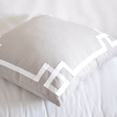 I pinned this Caitlin Wilson Signature Pillow Cover in Metallic Greige from the Spring Bedroom event at Joss and Main!