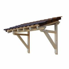 Wood Canopy Porch Door Awning 2050 mm Panel Solid Timber Brand New | eBay