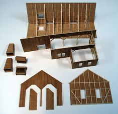 Slate Shingles, Engine House, Arch Model, Military Diorama, Glitter Houses, Lace Curtains, House Wall, Metal Roof, Craft Kits