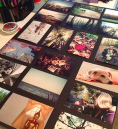 Display pictures without frames with modge podge and foam board