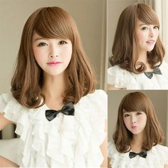 Find More Wigs Information about 40Cm Harajuku Cosplay Wig Young Synthetic Lace Front Wig Pad For Hair Medium Long Curl Black  Dark Brown Light Brown Blonde Wigs,High Quality pad bath,China pad lock Suppliers, Cheap wig change from Small and beautiful stores   on Aliexpress.com
