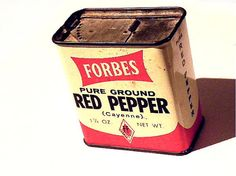 Vintage Forbes Spice Tin Red Pepper by ChaseyblueVintage on Etsy