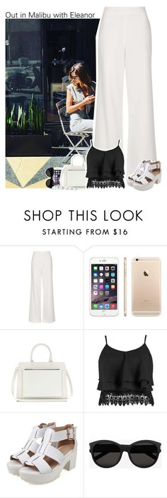 """""""Out in Malibu with Eleanor"""" by perfectharry ❤ liked on Polyvore featuring Topshop, Victoria Beckham, Boohoo, Yves Saint Laurent and Kendra Scott"""