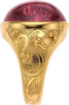 Paula Crevoshay Tourmaline, Gold Ring 18k gold with a 26.30 carat tourmaline.