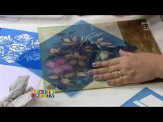 Ateliê na TV - TV Gazeta - 25.01.16 - Mayumi Takushi - YouTube- E, para nosso deleite, mais um trabalho em stencil da generosa Mayumi..