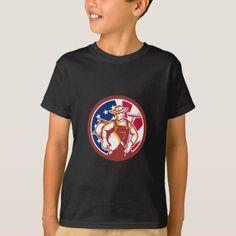American Organic Farmer USA Flag Icon T-Shirt custom gift ideas diy