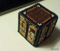 plastic canvas minecraft | Minecraft work bench!!
