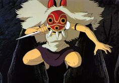Mononoke-Hime, I wish I was her when she jumped across all the buildings