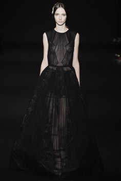 "Alberta Ferretti called her Fall/Winter 2014-2015 show a ""metamorphosis of nature and woman"""
