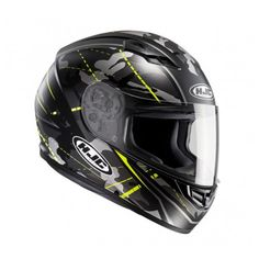 Motorcycle Helmets - Free UK Shipping Motocycle Helmets, Boots, Clothing, Parts & Accessories - MotoGB Hjc Motorcycle Helmets, Hjc Helmets, Motorcycle Outfit, Grey And White, Black N Yellow, Flip Up Helmet, Open Face Helmets, Shell, Ventilation System
