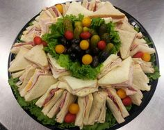 Small sandwich tray.