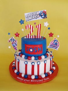Can be kids birthday for Captain America or for a festive Fourth of July cake without the superhero stuff
