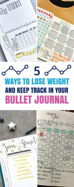 If you're trying to lose weight you're going to love these bullet journal fitness and weight loss tracking spreads! #bulletjournal #weightloss