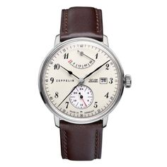 Graf Zeppelin LZ129 Hindenburg Automatic Watch with Power Reserve and 24hr Subdial 7060-4: Watches: Amazon.com