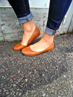 Dorothy-Cognac Flats – The Elle make that rockports and I'm wearing this daily... seriously.