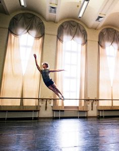 David Hallberg rehearsing at the Bolshoi Theatre.