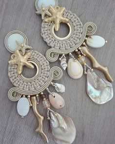 Tips On How To Enhance Your Jewelry Collection Claire's Accessories, Bridesmaid Accessories, Bohemian Accessories, Bohemian Jewelry, Unique Jewelry, Soutache Earrings, Diy Earrings, Fashion Earrings, Fashion Jewelry