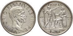 NumisBids: Nomisma Spa Auction 50, Lot 442 : Vittorio Emanuele III (1900-1946) 20 Lire 1927 A. V Prova di Stampa...