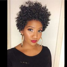 So this #rodset is fierce! @arielvscupcake_... you are WERKING it! Love. #naturalhairstyles #curlyhair #permrods #curlyfro #afro #hairspiration #taperedcut #taperedfro