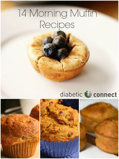 14 Morning Muffin Recipes that will spice up your breakfast. Low-carb muffins make for a great start of your day. Recipes include Banana-Orange, Raisin-Carrot and Low-carb Cream Cheese Muffins. From diabeticconnect.com #diabetesdiet, #breakfast