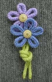 french knitting flowers