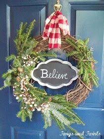 Twigs and Twirls: Evergreen Believe Holiday Wreath