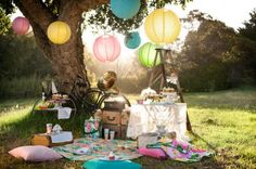 Beautiful sunny picnic. From the H Interiors summer 2011 collection.