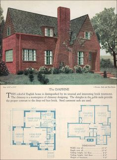 The Daphne - 1928 era floor plan, not bad but I'd rather the sunroom was off the kitchen to become a greenhouse.