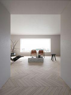 Minimal Apartment on Bechance. Modern Interiors | Minimalist Interiors | Contemporary Interiors | Minimal #minimalistinteriordesign #modernlivingspace #livingroom #Homeinteriordesign