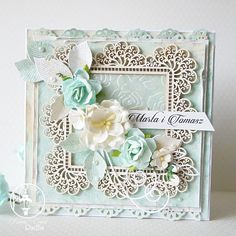 Wedding card in color mint