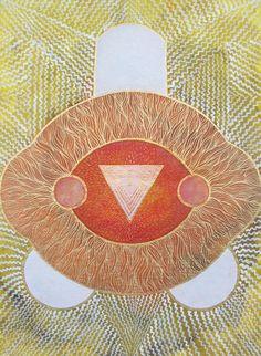 Izabela Ewa Ołdak, Revealed Truth- KALI YANTRA, 36x26cm, acrylic, ecoline on paper, 2013