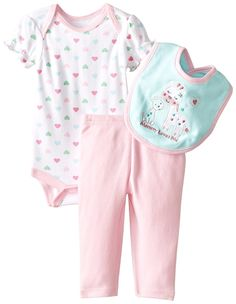 BON BEBE Baby-Girls Newborn Mommy Love Me 3 Piece Pant Set *** Awesome product. Click the image : Baby clothes