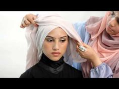 thehijabstylist - how to achieve the criss cross look (hijab tutorial) - YouTube