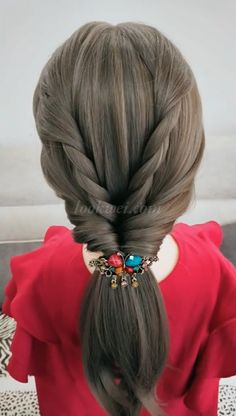 50 Ideas of Long Hair Style - Hair styles - Hochsteckfrisur Easy Hairstyles For Long Hair, Ponytail Hairstyles, Girl Hairstyles, Hairdos, Peinado Updo, Girl Hair Dos, Hair Upstyles, Hair Creations, Hair Videos