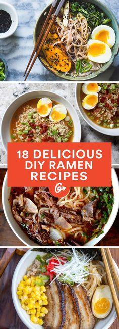 17 DIY Ramen Recipes That'll Make You Forget About Instant Noodles #healthy #recipes #ramen greatist.com/...