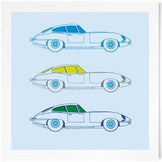 E-Type Jaguar Limited Edition Print | www.freireprintz.co.uk