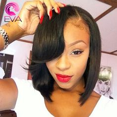 86.65$  Watch now - http://aliibx.worldwells.pw/go.php?t=32719731106 - Short Bob Wigs For Black Women Glueless Full Lace Human Hair Wig Peruvian Virgin Hair Wig African American Lace Front Bob Wigs 86.65$