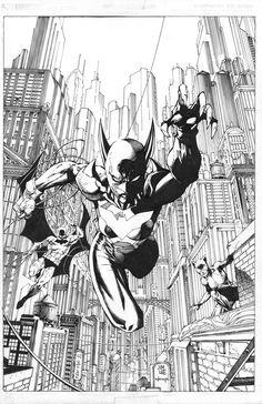 Catwoman Comic, Batman And Catwoman, Batgirl, Comic Book Artists, Comic Artist, Comic Books Art, Jim Lee Batman, Jim Lee Art, Dc Comics Superheroes