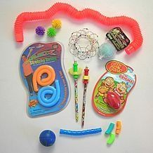 Fidget kits are used to help children, teenagers, or adults focus and maintain attention during challenging activities such as learning in a classroom setting or seminar. Fidget kits should contain . Sensory Tools, Autism Sensory, Sensory Diet, Sensory Issues, Sensory Activities, Activities For Kids, Therapy Activities, Learning Activities, Therapy Tools