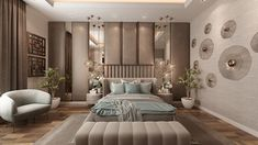 Modern Luxury Bedroom, Luxury Bedroom Design, Luxury Rooms, Room Ideas Bedroom, Home Room Design, Master Bedroom Design, Luxurious Bedrooms, Interior Design, Bedroom Decor