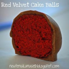 No Utensil Unused: Red Velvet Cake Balls