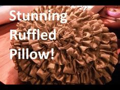 In this video I'll show you how to take leftover scraps to make this whimsical ruffled pillow. This easy project will have your . Easy Projects, Sewing Projects, Craft Projects, Sewing Ideas, Ruffle Pillow, Sewing Class, Fabric Manipulation, Craft Organization, Diy Pillows