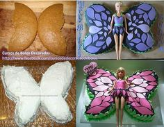babrie cupcake  cake | Barbie butterfly cake | Inspiration cake, cupcakes & cookies