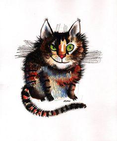 The wild cat (original painting). €€50,00 EUR, via Etsy.