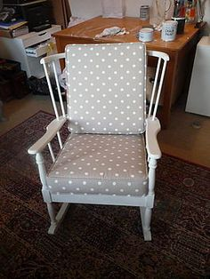 ... Vintage rocking chair, Rocking chairs and Upholstered rocking chairs