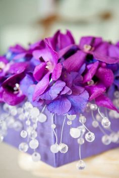 Hydrangea and crystal droplets  <3