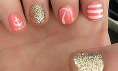 Beach nails.  Mexico nails!