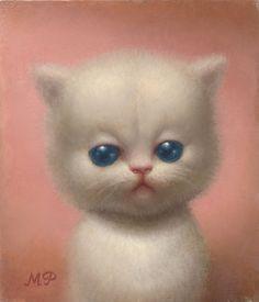 """""""Kitty"""" Oil on panel. Artist Marion Peck."""