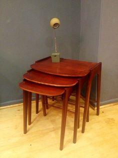 mesas nido, nesting table, decada muebles vintage www.decada.com.mx